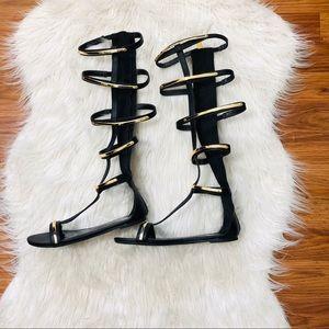 bebe knee high sandals